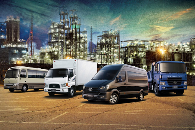 Hyundai Commercial Trucks and Buses Line Up