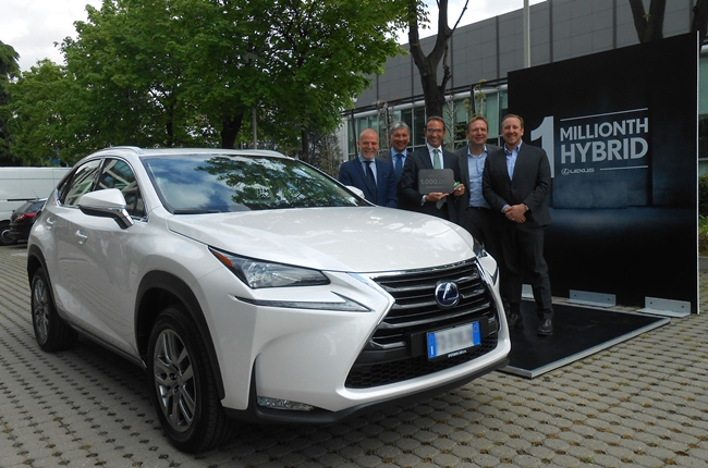 Lexus hybrid models reach 1-million sales mark worldwide
