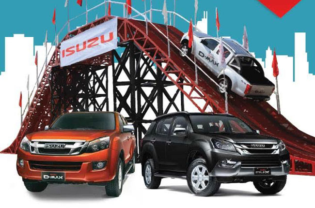 Isuzu 4x4 off-road test drive at SM Mall of Asia