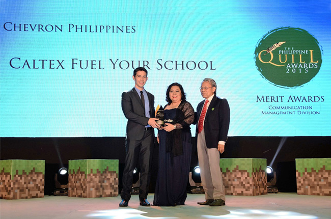 Chevron Ph bags 3rd award for its Caltex Fuel Your School program