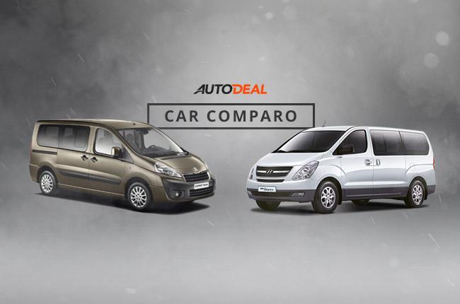 Car Comparo: Peugeot Expert Tepee vs Hyundai Starex as the best family van