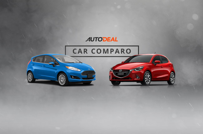 Mazda 2 Ford Fiesta hatch car comparo