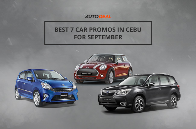 The best car promos in Cebu for September