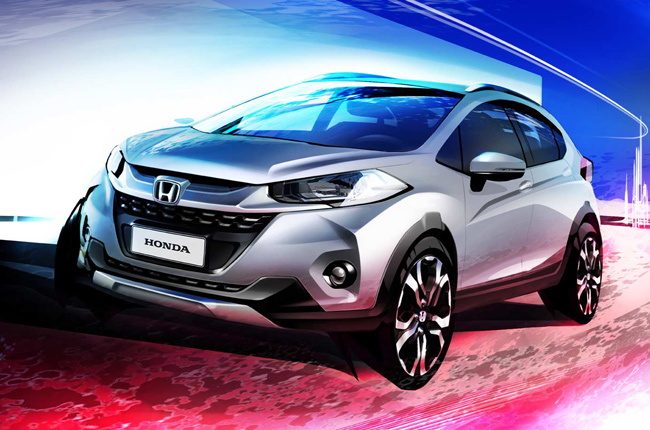 Honda reveals design sketch of WR-V compact SUV