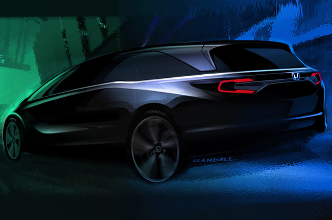 2018 Honda Odyssey sketch