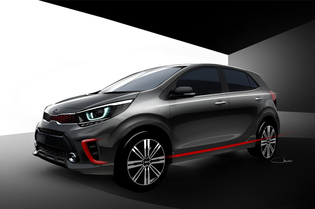 2017 Kia Picanto Design Sketches Revealed Autodeal