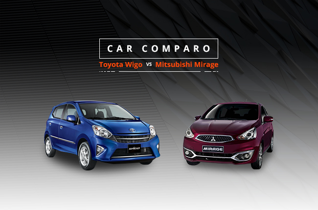 Car Comparo: Which should you buy, Toyota Wigo or Mitsubishi Mirage?