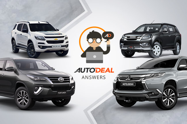 Which SUV should I buy, Fortuner, mu-X, Montero Sport, or Trailblazer?