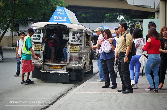 jeepney protests heavy traffic