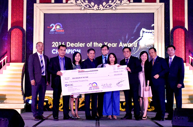 Isuzu Batangas is brand's Dealer of the Year for 2016.