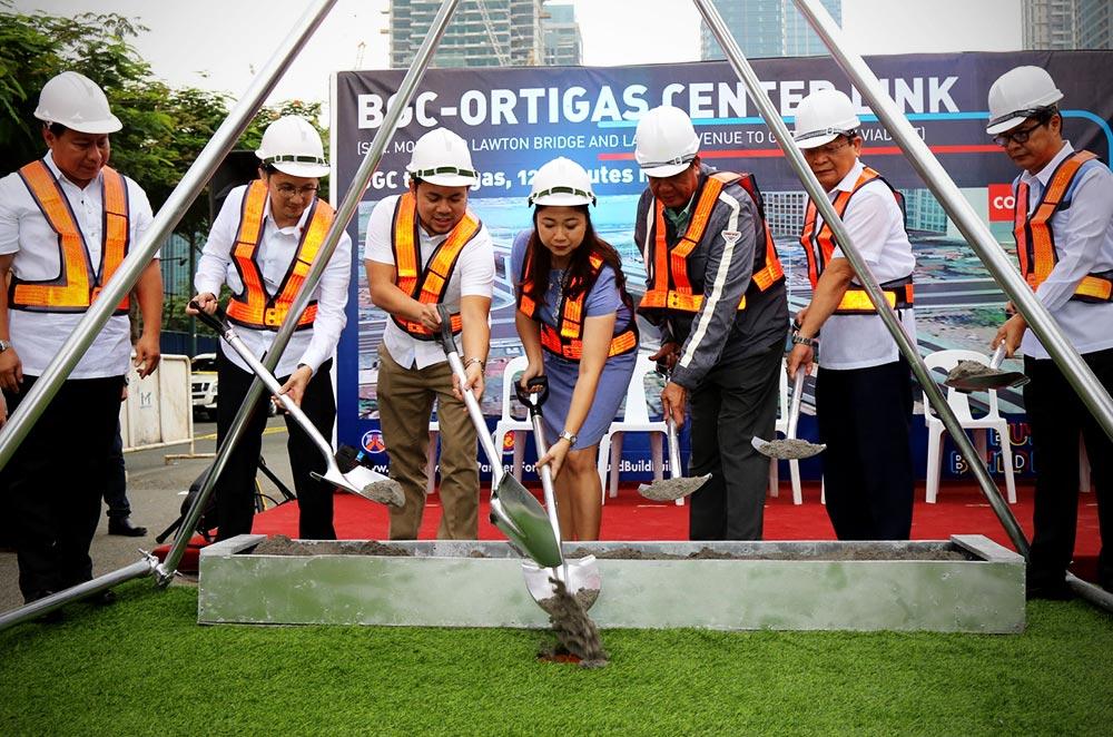 DPWH BGC-Ortigas Center Link groundbreaking ceremony