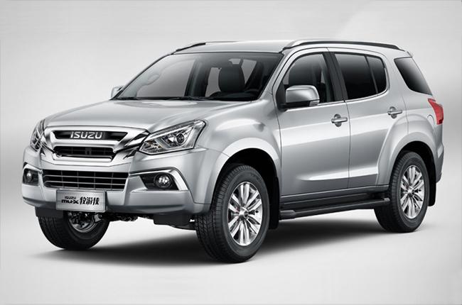 Isuzu mu-X facelift in China