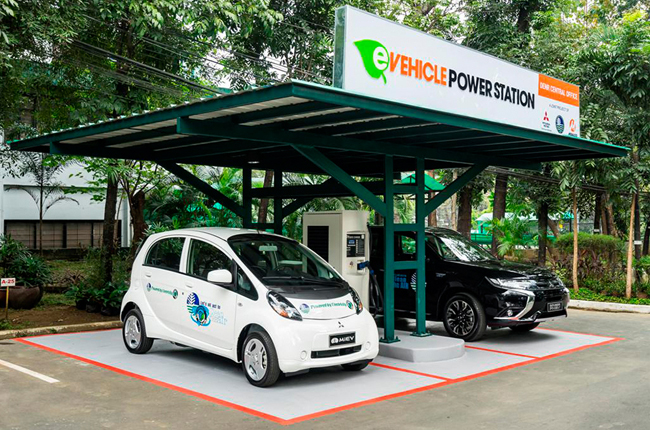 Mitsubishi Electric Vehicle Quick Charging Station