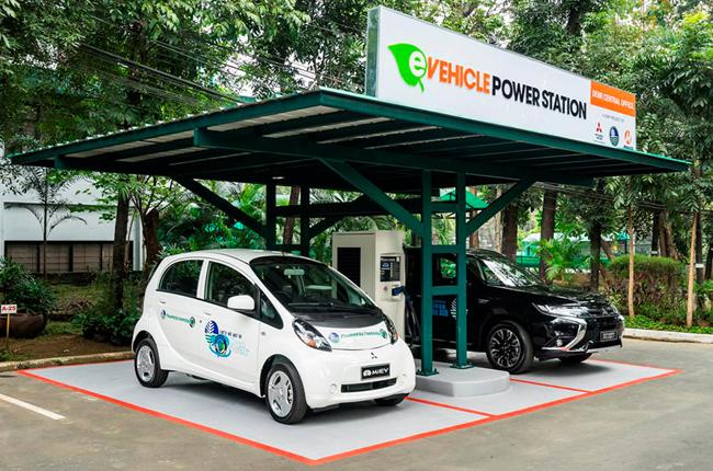 Mitsubishi Electric Vehicle Quick Charging Station