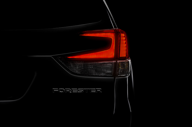 Your First View Of The 2019 Subaru Forester Is Its Taillight Autodeal