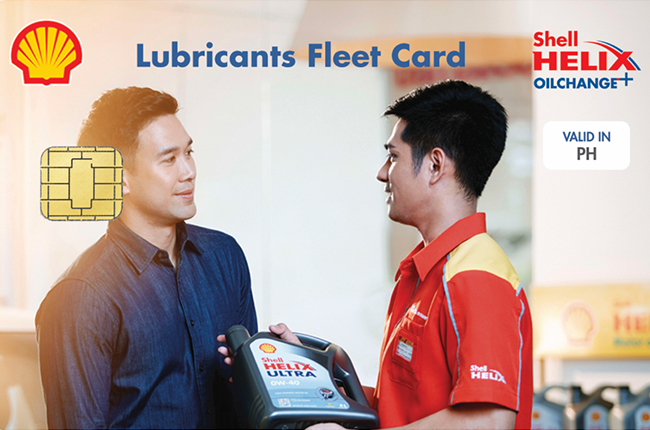 the petroleum giant pilipinas shell launches its new shell lubricants fleet card which provides businesses access to shell helix oilchange services in - Shell Fleet Card