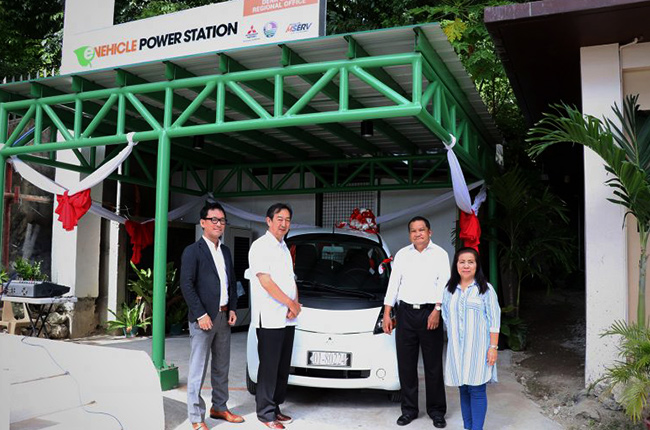 Mitsubishi i-MiEV given to DENR Cebu