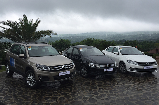 We try out three of Volkswagen's newest cars, and pile up some kilometers.