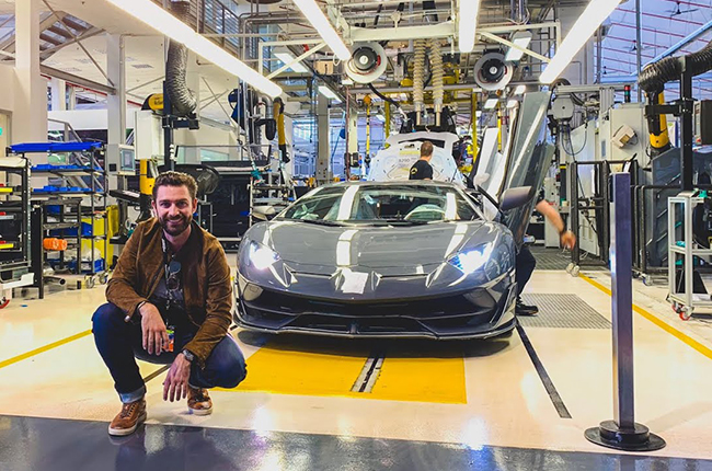 A certain famous YouTuber had an exclusive tour while waiting for his Aventador S.