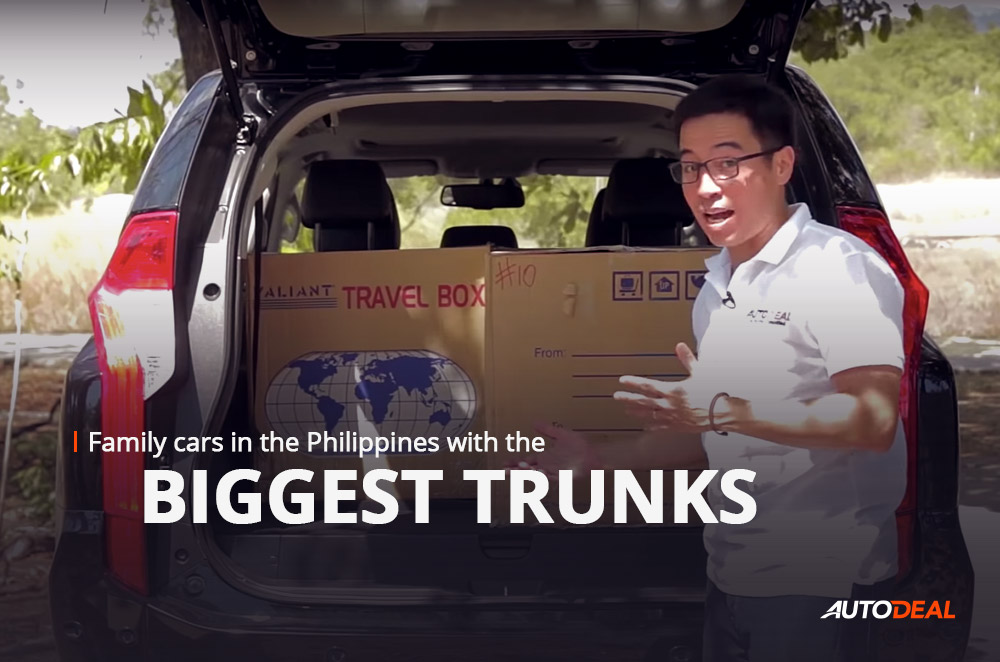 Family cars in the Philippines with the biggest trunks