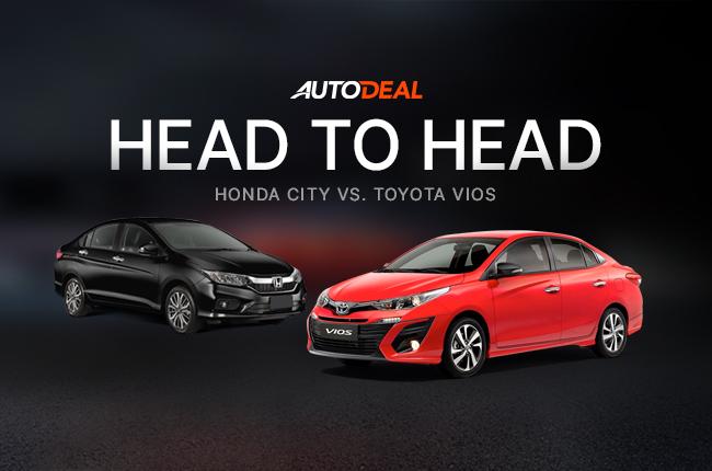 Head-to-Head Toyota Vios vs Honda City