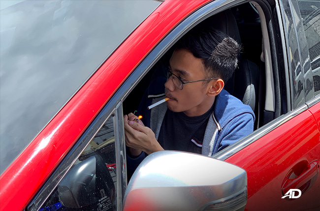Smoking in a private vehicle