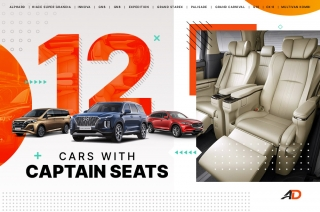12 cars with captain seats available in the Philippines
