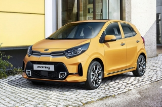 2020 kia morning yellow