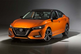 2020 Nissan Sentra orange press photo