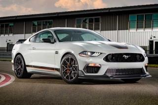 2021 Mustang Mach 1 white