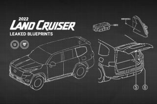2022 Toyota Land Cruise blueprint design
