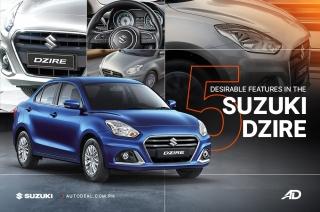 5 desirable things about the Suzuki Dzire