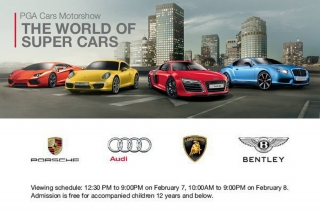 PGA Cars' supercar motor show to feature Audi, Porsche, Lambo, and Bentley