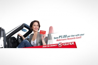 Save P1.00 per liter of fuel with Caltex and Robinsons Rewards Card