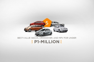 5 best-value sedan, crossover, and MPV for under P1-million
