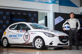 Philippine GT champion Edwin Rodriguez pilots the all-new Mazda2 SKYACTIV