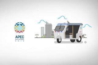E-Motors' ZüM E-Trikes transport delegates of the APEC 2015 Economic Leader's Summit