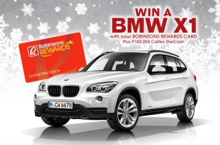 Use your Robinson Rewards Card and get the chance to drive home a BMW X1