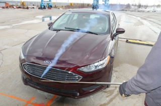 Ford's mobile aeroacoustic wind tunnel