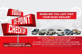 Isuzu Philippines free 30-point check-up