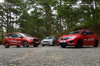 Honda City, Jazz, and Mobilio