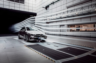 mercedes a-class sedan aerodynamic