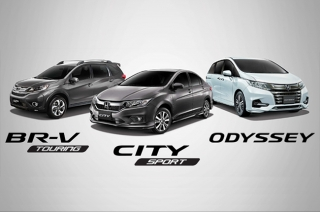 Honda Limited Edition BR-V, City, and Odyssey