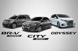 Honda Limited Edition BR-V, City, and Odyssey