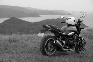 An island getaway with a desirable motorcycle. What's not to love?