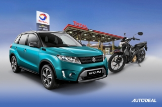 """Total and Suzuki """"Gas Up and Win a Ride!"""""""