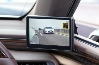 The Lexus ES has digital mirrors instead of bulky housings.