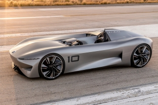 nissan electric luxury sedan