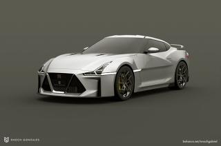 Nissan GT-R rendering by Enoch Gonzales