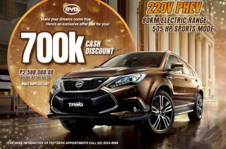 BYD Tang P700,000 discount Philippines
